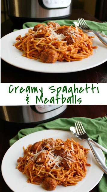 Make a dinnertime favorite even quick and easier! The instant pot is a great way to make creamy spaghetti and meatballs with minimal dishes and effort.