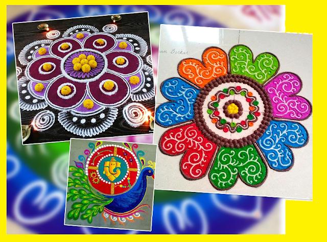 rangoli design for diwali images