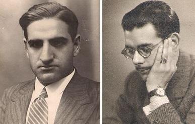 Los ajedrecistas José Sanz y Antonio Medina