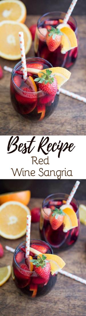 Red Wine Sangria #healthydrink #easyrecipe