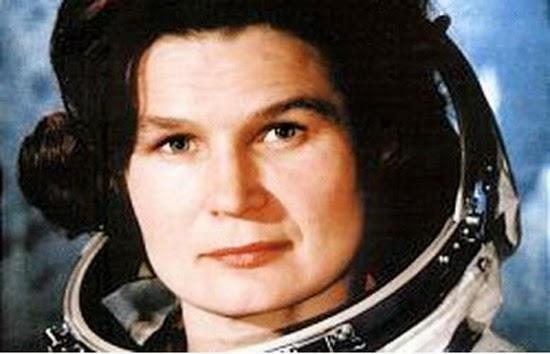 Valentina Tereshkova, cosmonauta soviética e primeira mulher a viajar para o Espaço.
