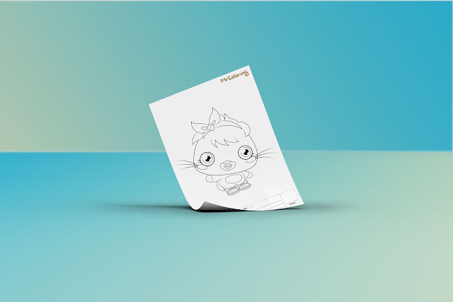 Free Printable Scary Moshi Monsters Poppet Coloriage Outline Blank Coloring Page pdf For Kids Kindergarten Preschool toddler coloring sheets