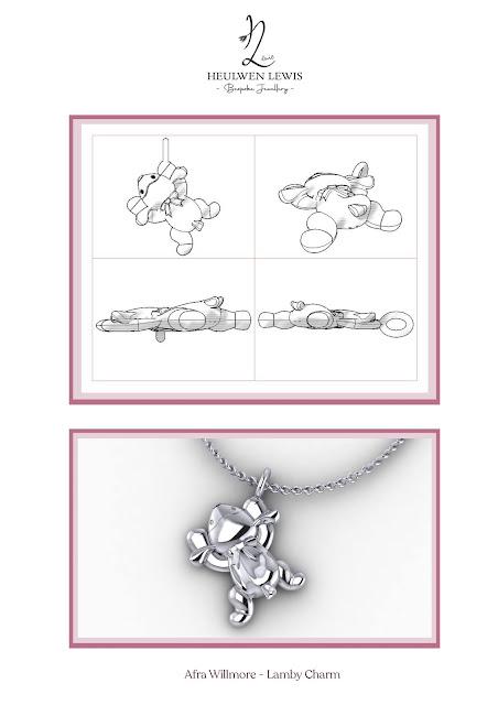 sketches for keepsake charm