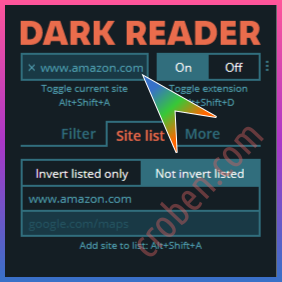 Croben.com Dark Mode Websites Option 3