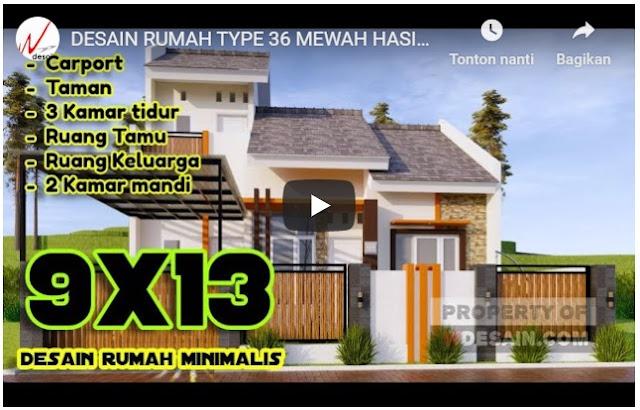 Desain Rumah Type 36 ++ Mewah