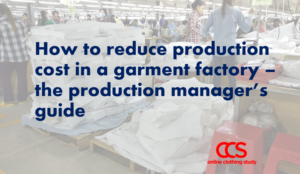 Production manager's guide to reduce production cost