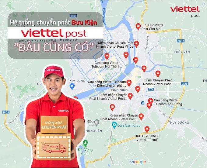 Danh sách các điểm gửi hàng Viettel Post tại Huế