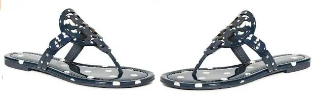 3. Tory Burch Women's Miller Flip Flops