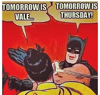 Tomorrow is....