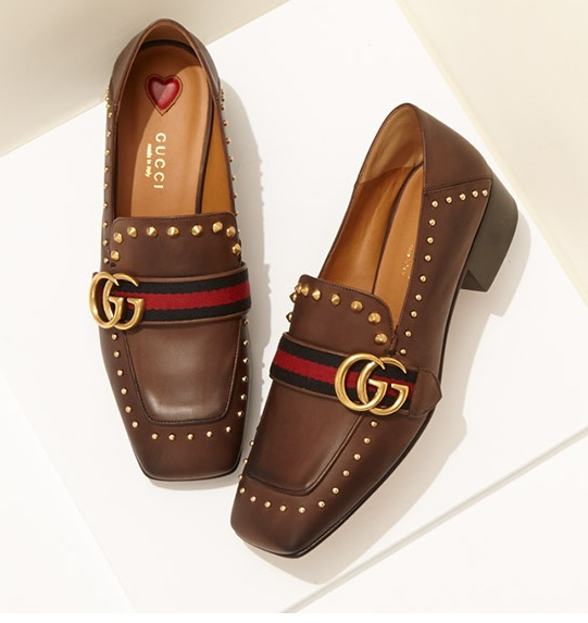 Gucci Peyton Studded Loafers