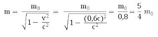 menghitung massa relativistik