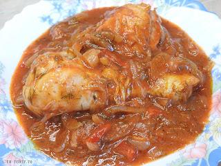 Tocanita de ceapa cu pui reteta de casa taraneasca cu ardei si sos tomat de bulion retete mancare tocana tocanite traditionale romanesti,