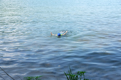 ALPS BOOK CAMP 2016 木崎湖で泳ぐ少年