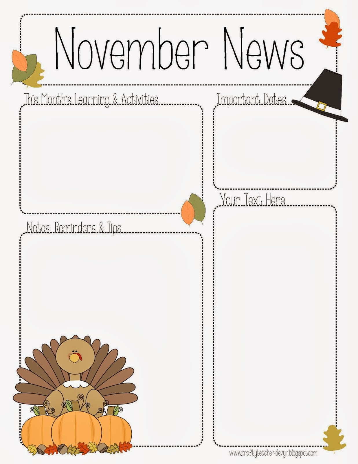 NovemberNewsletter Free Monthly Pre Newsletter Template Editable on free newsletter template printable, free fall newsletter templates for teachers, free microsoft word newsletter template, free classroom newsletter template school,