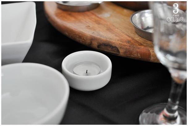 decoração mesa fondue