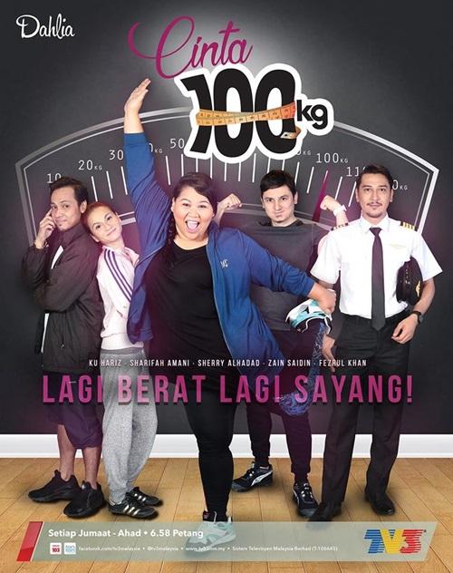 pelakon drama Cinta 100kg tv3, pelakon utama, pelakon pembantu, pelakon tambahan drama Cinta 100kg tv3