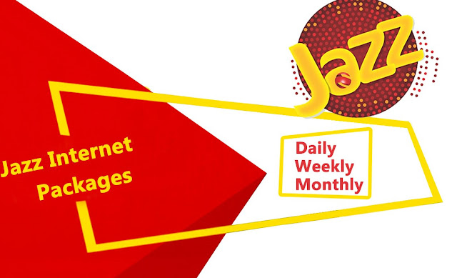 Jazz / Warid / Mobilink Internet Packages 2019 2G/3G/4G  DAILY, 3 DAYS, WEEKLY AND MONTHLY FOR PREPAID AND POSTPAID CUSTOMERS