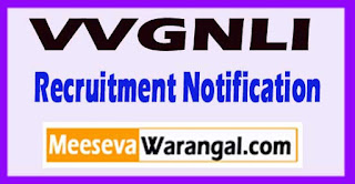 VVGNLI (V. Giri National Labor Institute) Recruitment Notification 2017