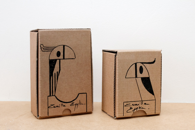 packaging carton recyclé par Camille Epplin