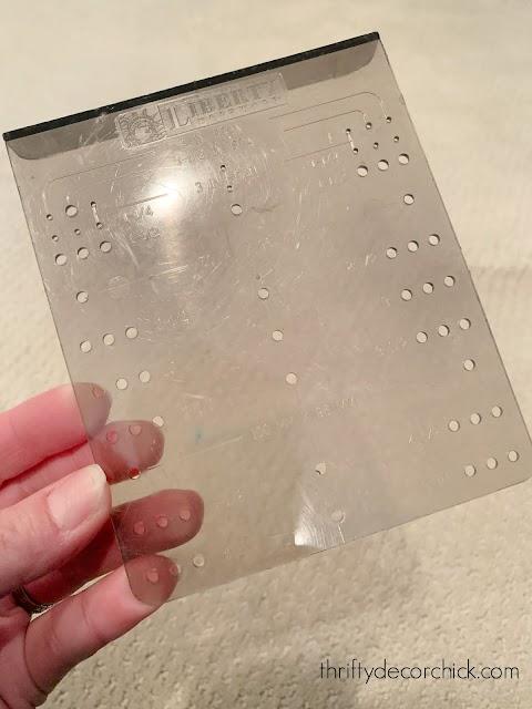 plastic guide for installing hardware