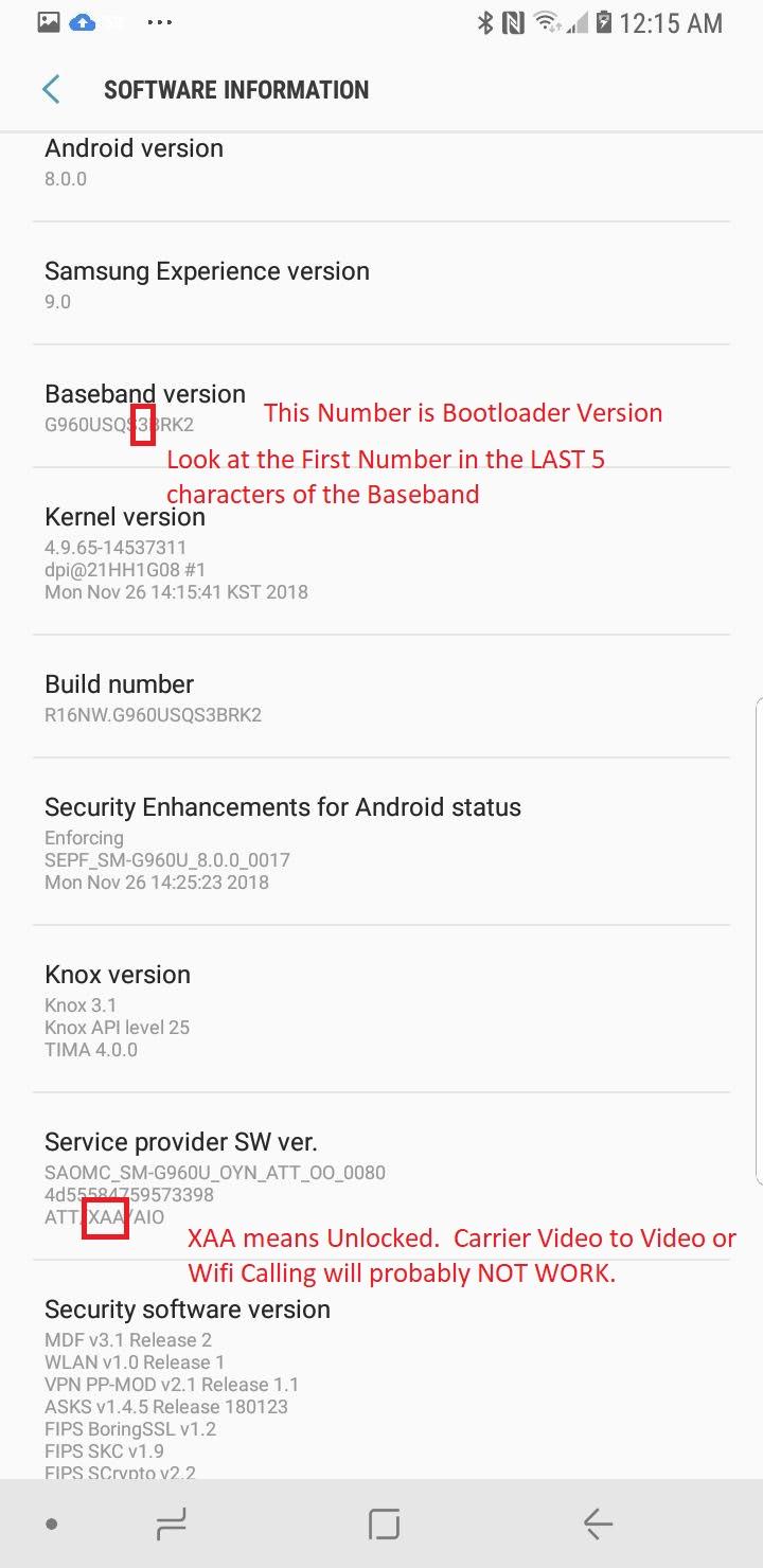 Cricket Samsung S9 Flash S960U to S960U1 unlocked rom   dev