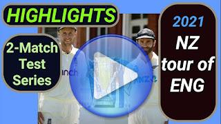 England vs New Zealand Test Series 2021
