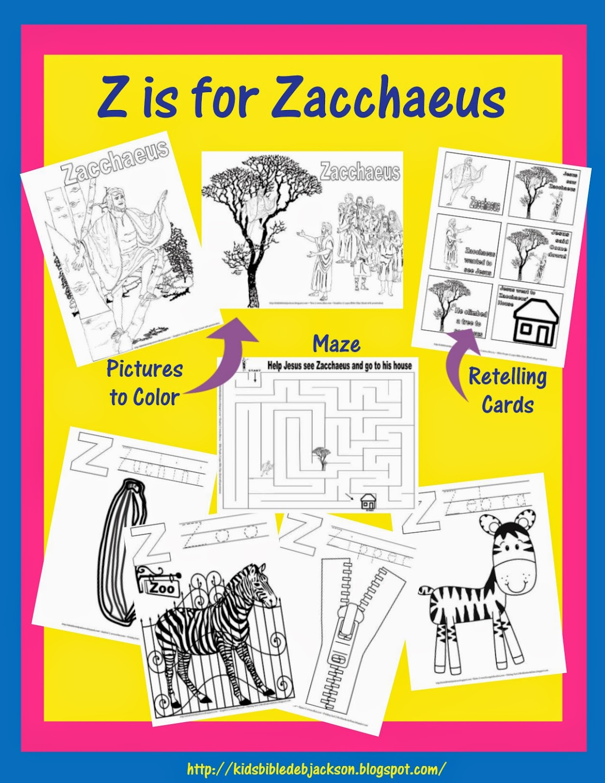 Bible Fun For Kids Preschool Alphabet Z Is For Zacchaeus