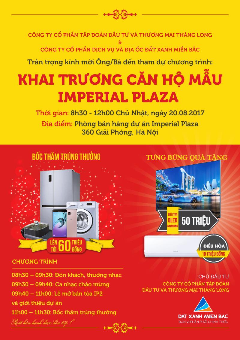 Thư mời sự kiện khai trương nhà mẫu Imperial Plaza