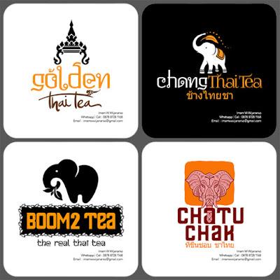 desain logo kuliner thai tea