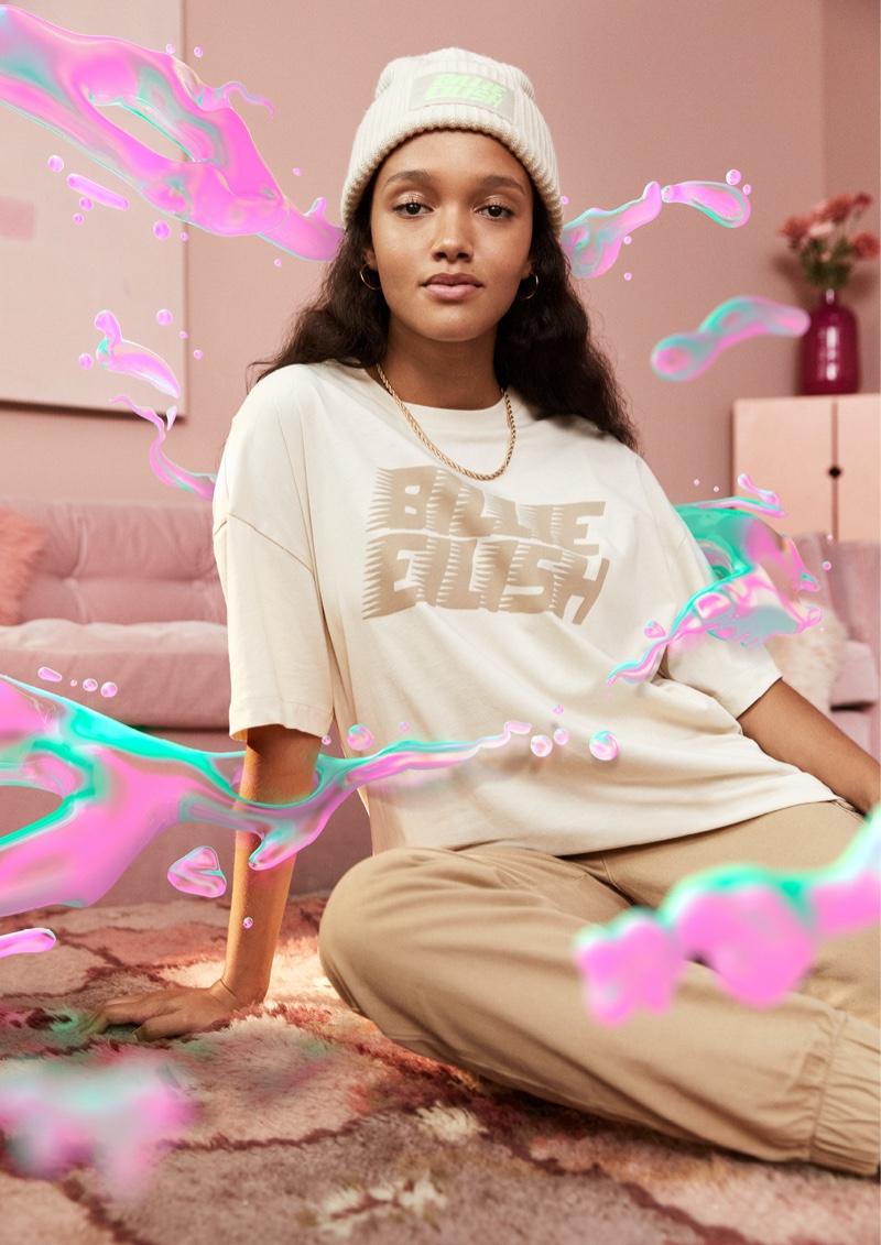 Cassey Chanel stars in Billie Eilish x H&M merch campaign