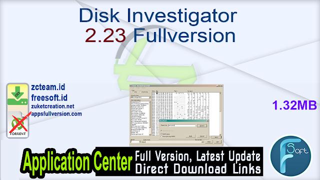 Disk Investigator 2.23 Fullversion