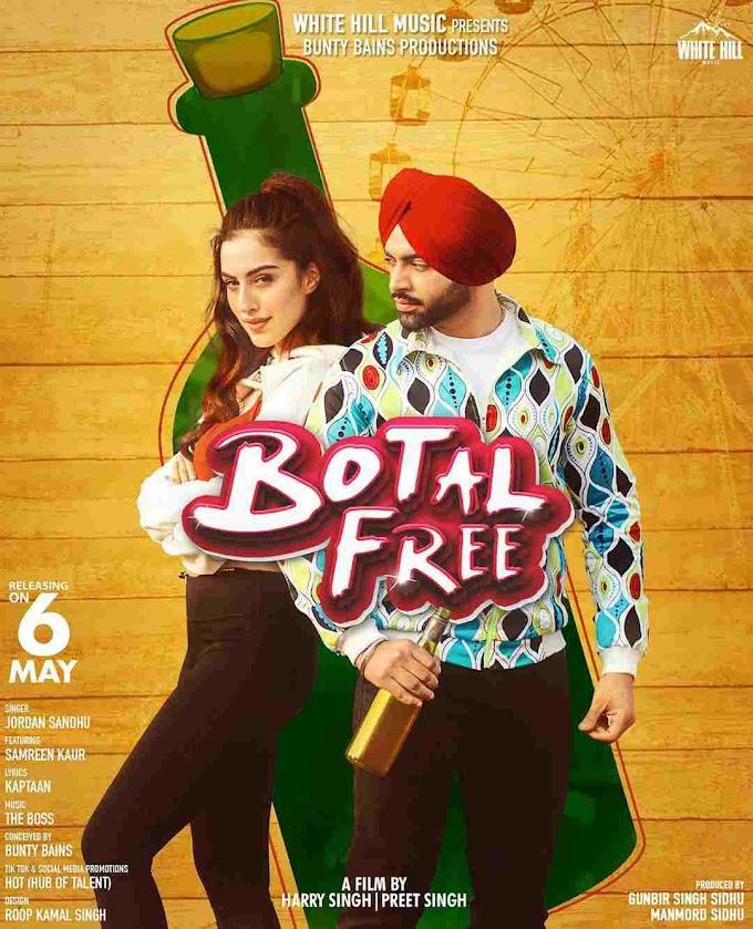 Botal Free Lyrics in English - Jordan Sandhu New Punjabi Song 2020