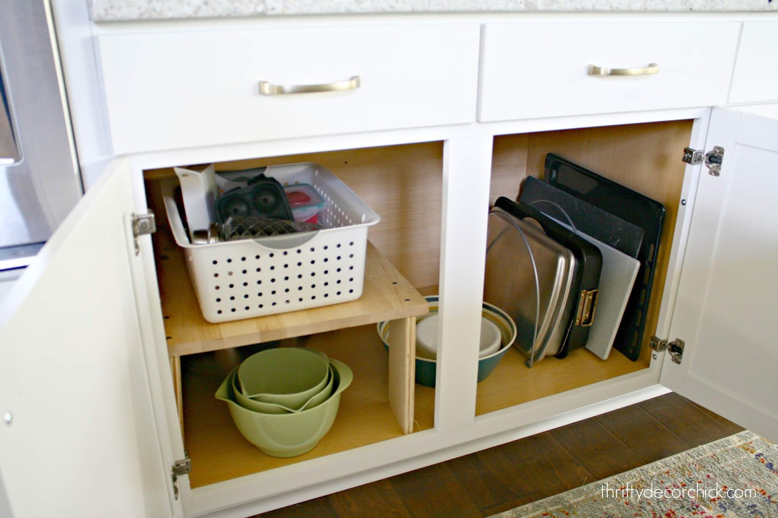 DIY hacks to get more usable space out of cabinets
