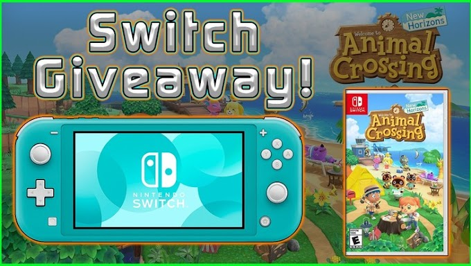 Sorteio do Nintendo Switch Lite  + Jogo Animal Crossing: New Horizons!