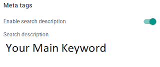 Enable search description