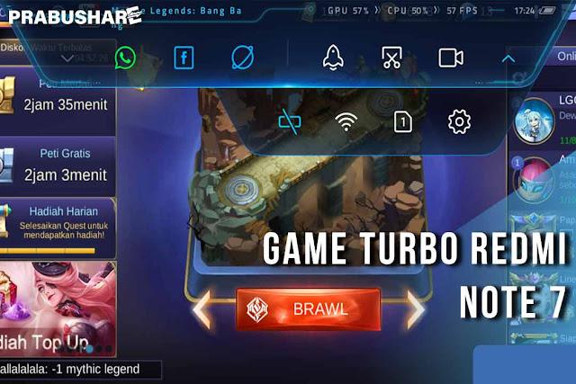 cara mengaktifkan game turbo khusus redmi note 7