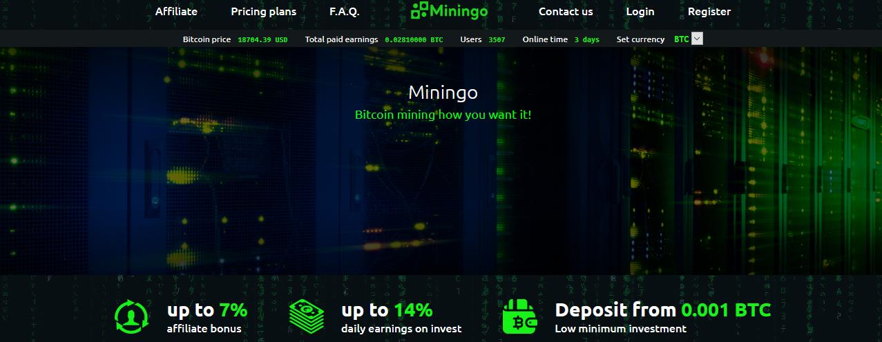 Мошеннический сайт miningo.co – Отзывы, развод, платит или лохотрон? Информация