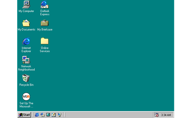 Tampilan Windows 98
