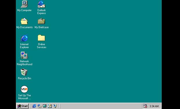 Tampilan Windows 98