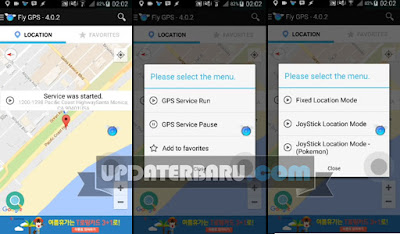 Link download Fly GPS v4.0.2 Apk Aplikasi Fake GPS android