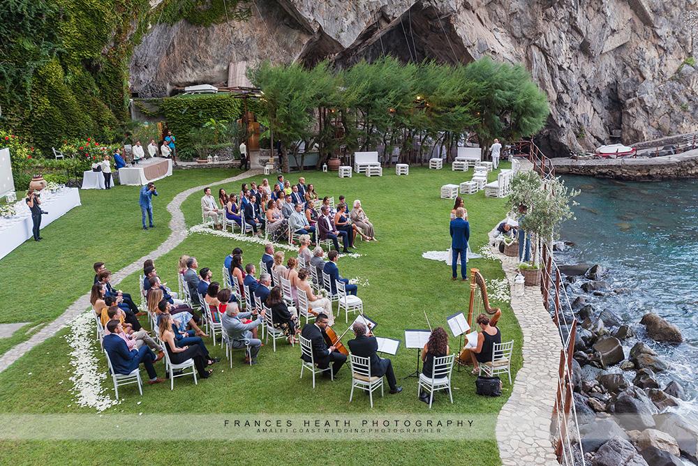 Wedding ceremony at hotel San Pietro