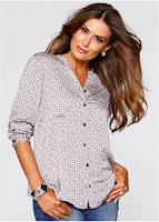 Bluză imprimată Premium, model feminin (bonprix)