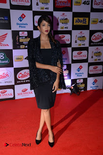 Lakshmi Manchu Pictures in Black Dress at Mirchi Music Awards South 2015