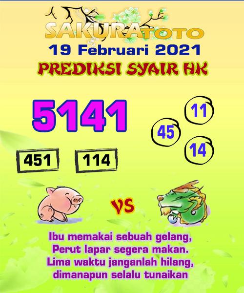 Syair HK Jumat 19 Februari 2021 -