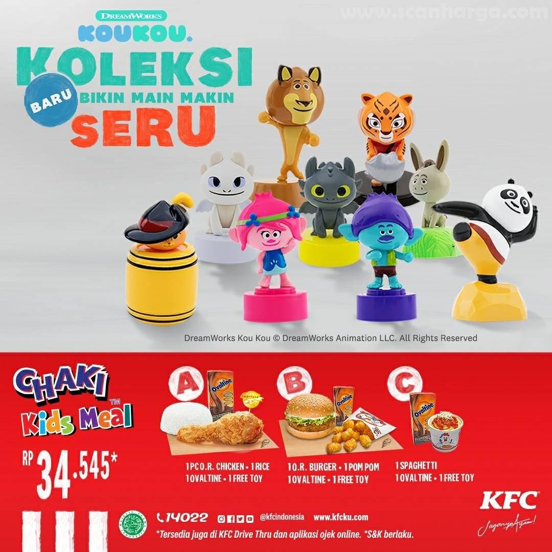KFC Promo Beli Chaki Kids Meal - Gratis Koleksi DreamWorks Kou Kou