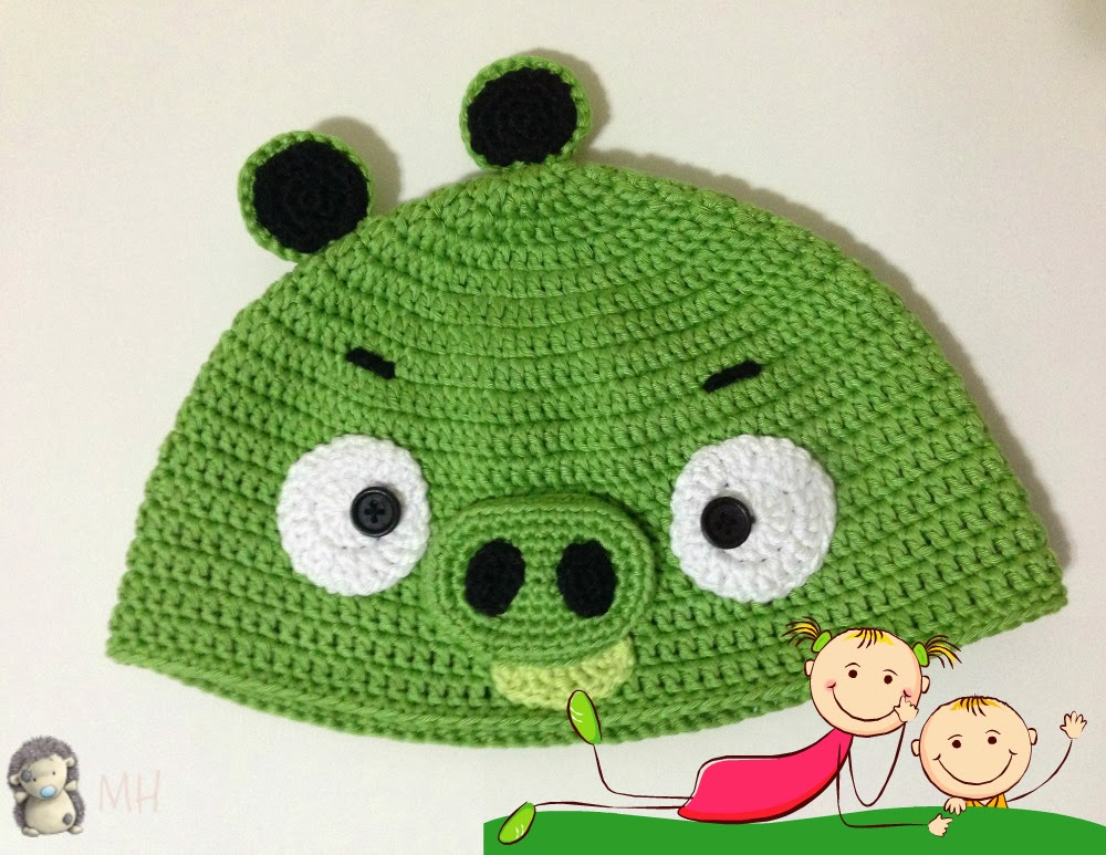 Gorro Bad Piggy de Angry Bird