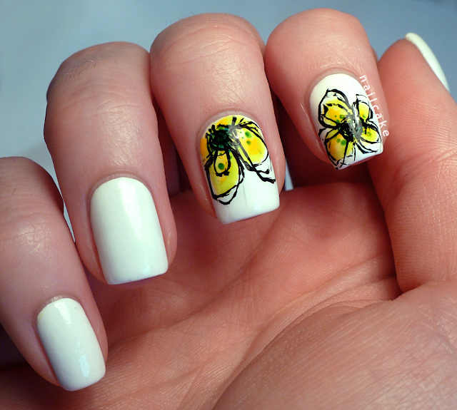Nail Cake Jan Weiss Yellow Petals Inspired Nail Art