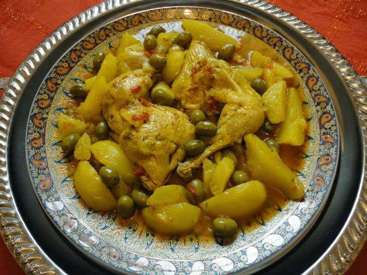 idée repas marocain Tajine de poulet aux pommes de terre | idee repas idée repas marocain