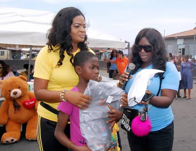 Funmi Ade Bank Anthony's Rough Diamond Charity Organization Feeds Hundreds Of Pupils Across Lagos