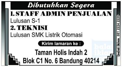 Loker Admin Penjualan Bandung